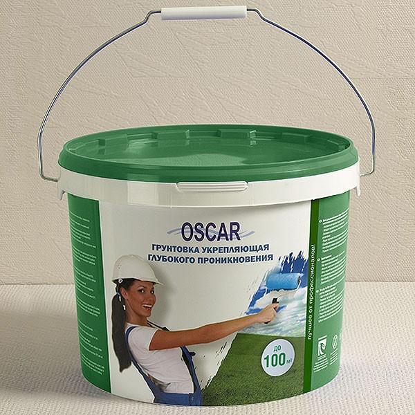 Грунтовка укрепляющая глубокого проникновения «Oscar» 10 кг расход на 40-70 м2