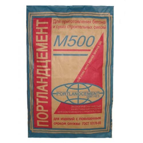Портландцемент М-500 40 кг расход на 1,6 м2