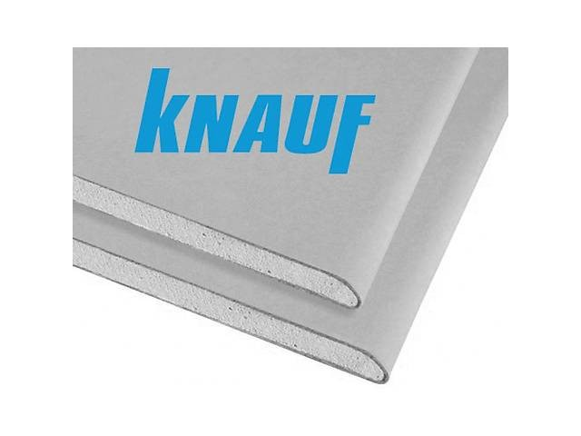 Гипсокартонный лист Knauf 9,5х1200х2500мм расход на 3 м2