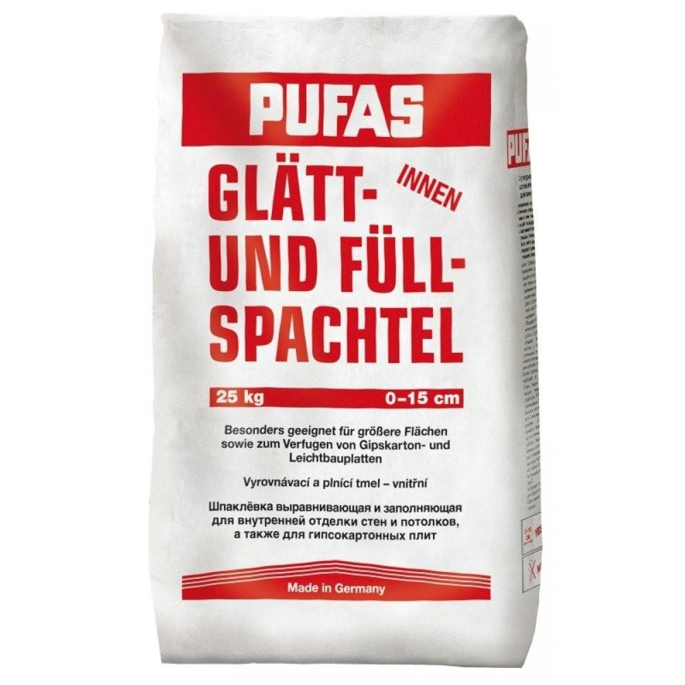 Шпатлевка PUFAS Glаtt und Full 20кг расход на 20 м2