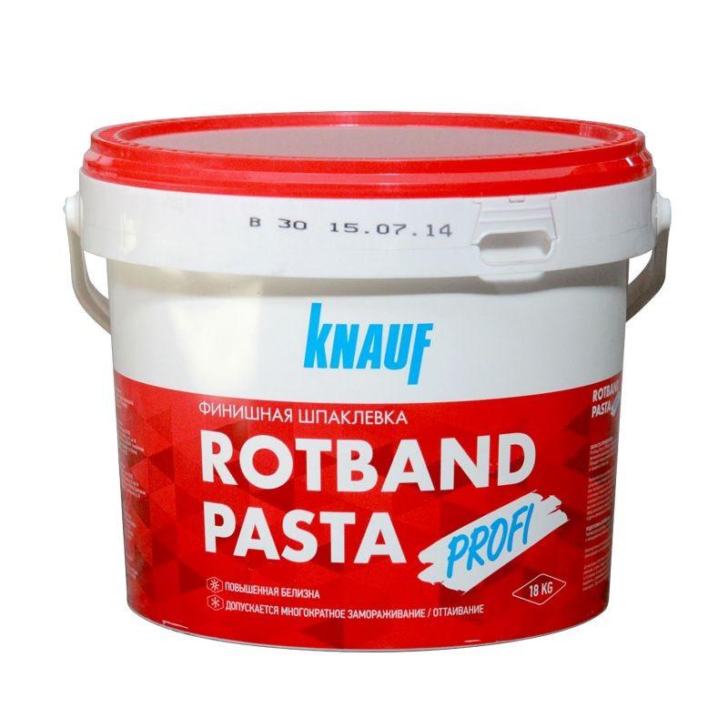 Шпатлевка KNAUF Rotband Pasta Profi 18кг расход на 37 м2