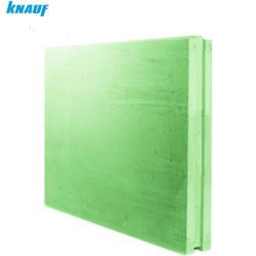 Плита пазогребневая Кнауф полнотелая (влагостойкая) 667х500х80 мм расход на 0,3 м2