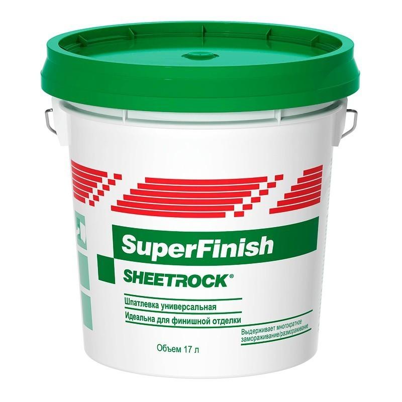 SHEETROCK Шпатлевка Sheetrock SuperFinish 28кг расход на 40 м2