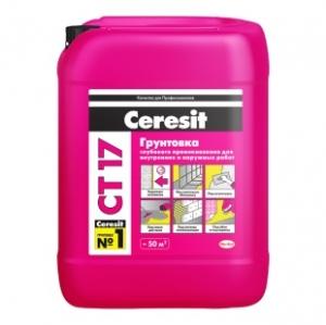 Грунтовка Ceresi СТ 17 для внутренних/наружных работ 10л расход на 50-100м2